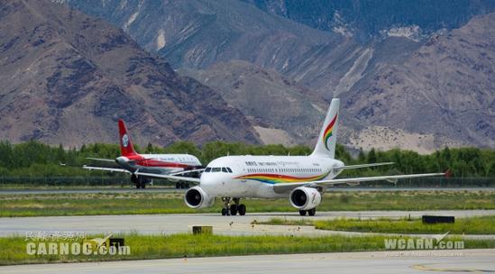 资料图:西藏航空公司空客a319-100型飞机执飞高高原航线.