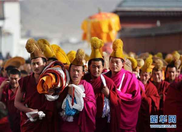 Labrang Monastery holds Buddha unfolding ceremony