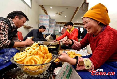 Traditional food 'Kasai' ready for Tibetan New Year