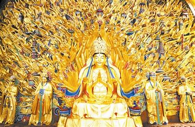 重庆大足石刻12尊菩萨将赴台湾 过年