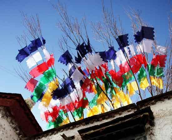 Sutra streamer: Symbol of Tibetan culture