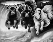 十载春秋画牦牛水墨绘出高原魂 画家孟繁华圆梦西藏时光沉淀精品