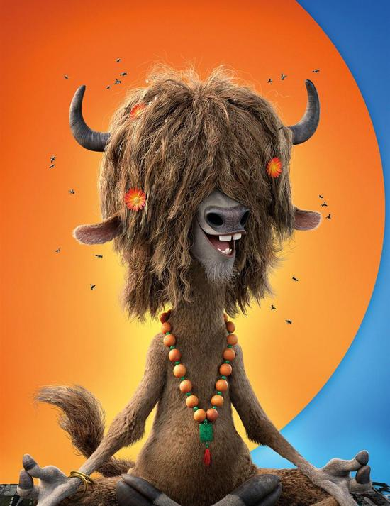 牦牛Yax,是动物城里自然崇拜协会的店长,记忆力非常好,因为崇拜自然,所以经常裸体,一头长发长期不洗,进而苍蝇环绕。 野牦牛,栖息于海拔3000~6000米的高山草甸地带,善奔跑,时速可达40公里以上。 奥特顿夫人(水獭)