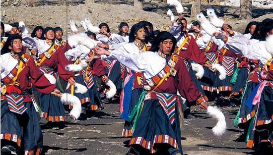 """西藏的""""腰鼓舞"""":久河卓舞"""