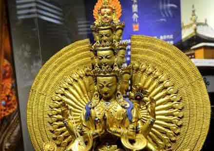 100 cultural relics from Dalai Lamas' summer resort displayed in Fujian Museum