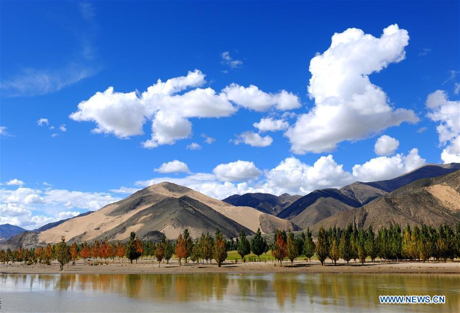 Scenery of Yarlung Zangbo River in China's Tibet