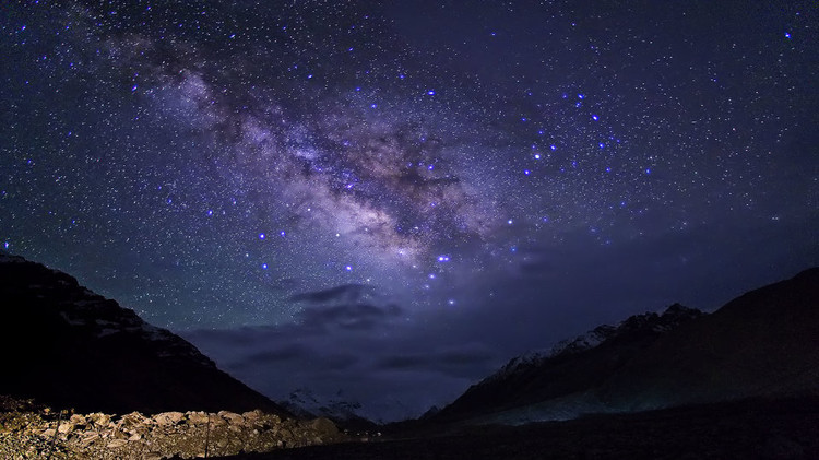 Der Sternenhimmel über Tibet
