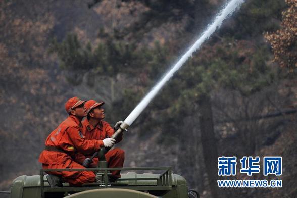 甘肃省迭部林区达拉林场森林火灾基本得到控制