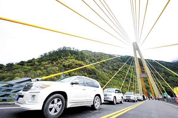 Sichuan-Tibet highway Tongmai natural barrier improvement project open to traffic
