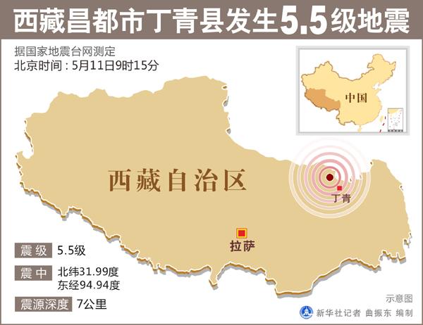 西藏昌都5.5级地震 灾区万余群众妥善转移安置