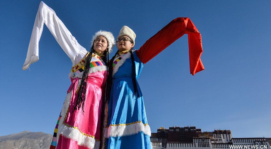 Tourists visit Potala Palace in Lhasa, China's Tibet