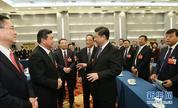 习近平看望参加政协会议的民建工商联委员
