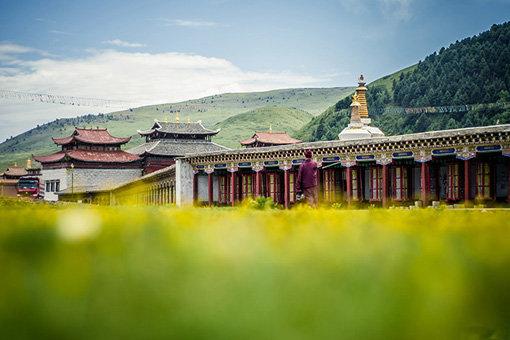 藏族画建筑边框