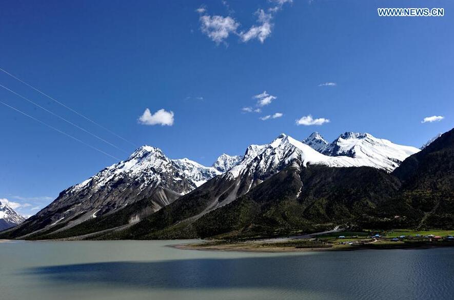 Scenery of Chamdo City, SW China's Tibet