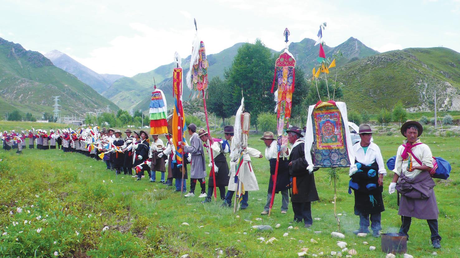 Tibet feiert das Ongkor-Fest