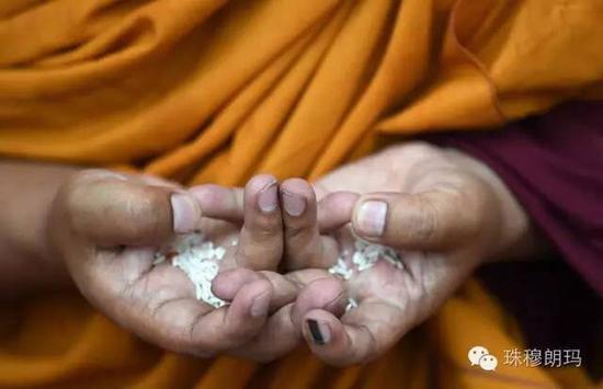 Kalachakra ritual feature: devout believers