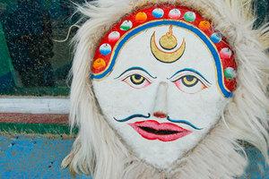 白面具藏戏阿热娃面具