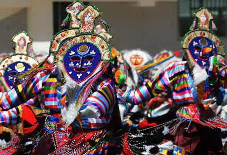 Artistic elements of masks in Tibetan Opera