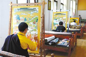 """西藏传统工艺美术迎来发展""""春天"""""""