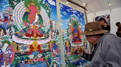 第三届中国唐卡艺术节在拉萨开幕