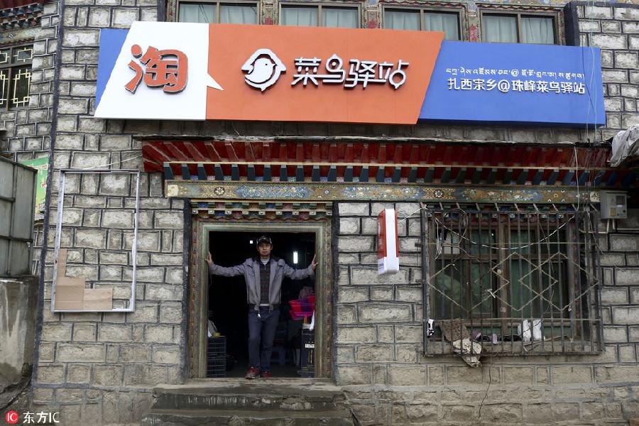 World's highest delivery service station established in Tibet