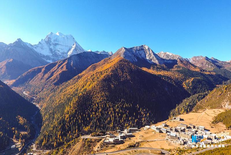 Aerial photographs of Shangri-La, Yading Daocheng
