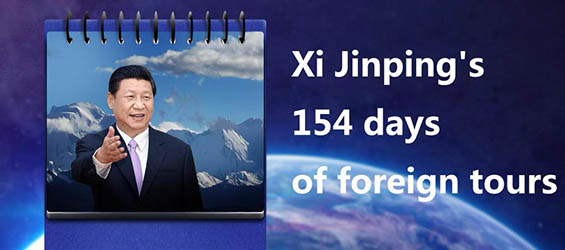 Xi Jinping's 154 days of foreign tours