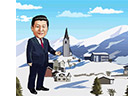 Cartoon Commentary, Xi's Swiss trip ③: Guiding the global growth