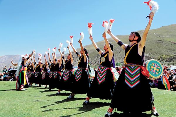 Tibet's Jiuhe Zhuo Dance