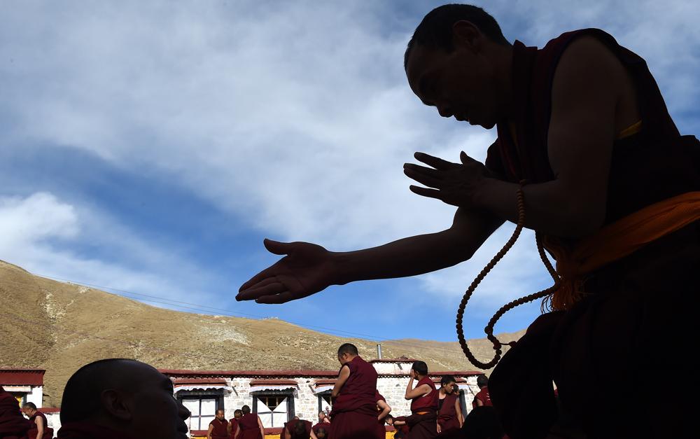 Lhasa: Buddhistische Veranstaltung