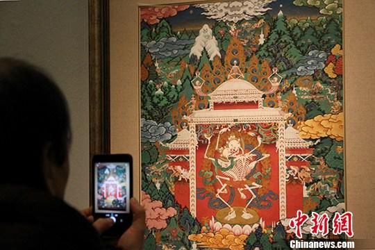 西藏唐卡艺术精品汇展亮相中国美术馆