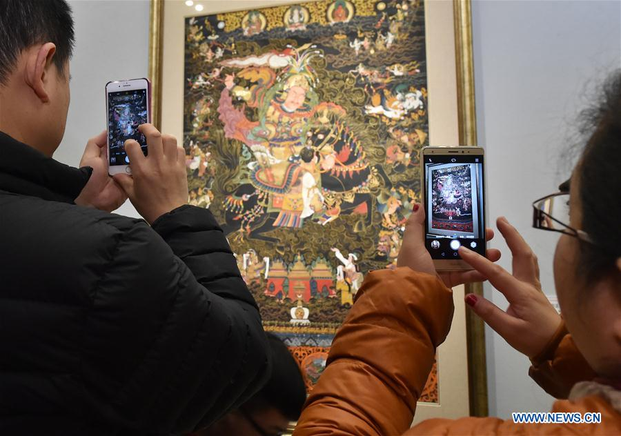 Exhibition of Tibetan Thangka painting held in Beijing