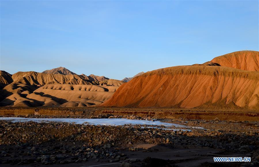 Scenery of Danxia landform in NW China Qinghai
