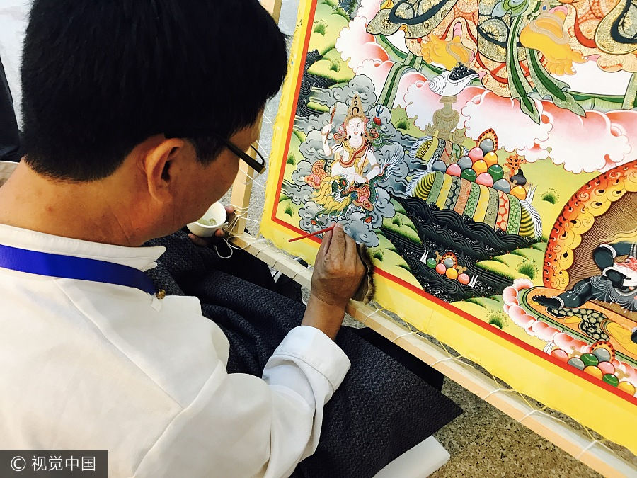 Across China: Tibetan students find focus and a future in Thangka painting