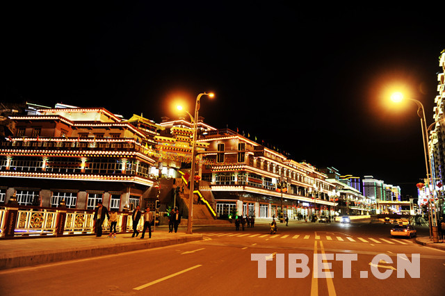 The night sight of Chamdo in Tibet