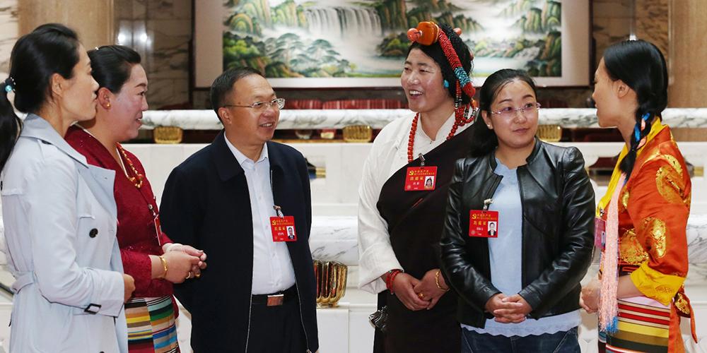 """西藏十九大代表进入""""会议模式"""""""