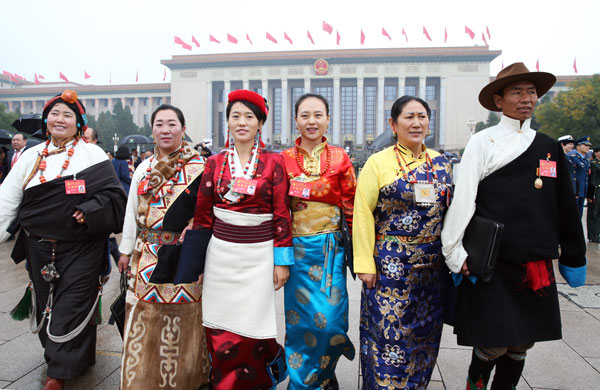 Delegates from Tibet to the 19th CPC National Congress