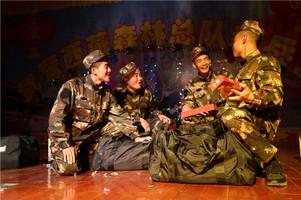 """武警西藏森林总队新兵大队举办""""双节""""文艺晚会"""