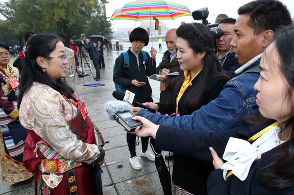 Delegates from Tibet prepare for the 19th CPC National Congress