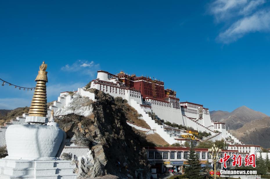 "Potala-Palast in Lhasa hat ""Winterkleidung"" bekommen"