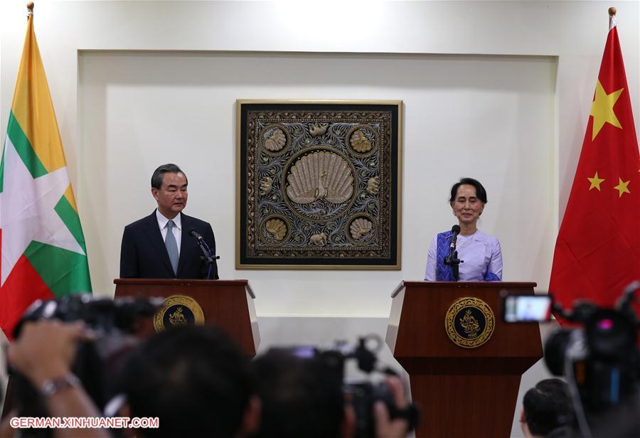 Wang Yi trifft Aung San Suu Kyi in Myanmar