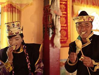 西藏林芝索松村震后安好迎新年