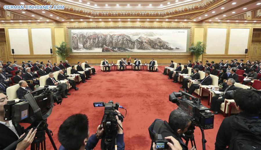Li Keqiang trifft japanische Delegation von großen japanischen Unternehmen in Beijing