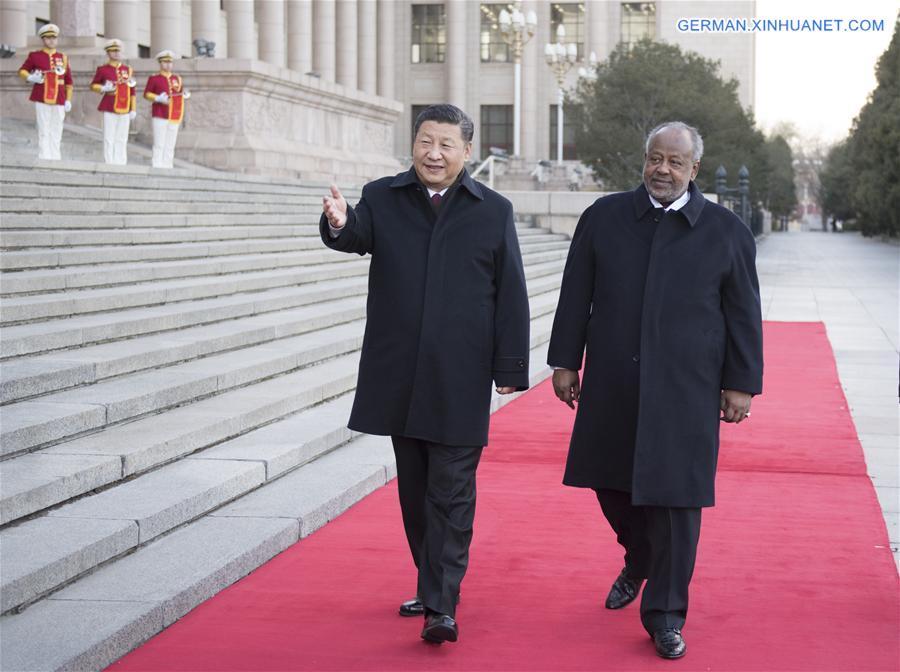 Xi Jinping trifft dschibutischen Präsidenten Ismail Omar Guelleh in Beijing