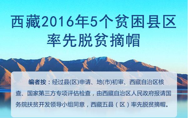 图解|西藏2016年5个贫困县区率先脱贫摘帽