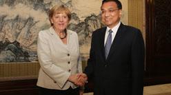 Telefonat zwischen Li Keqiang und Angela Merkel