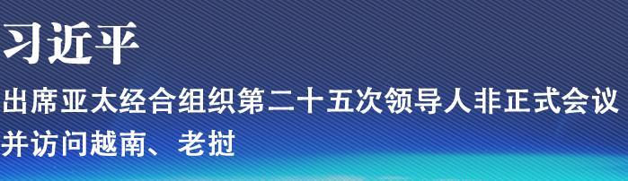习近平出席亚太经合组织第二十五次领导人非正式会议并访问越南、老挝
