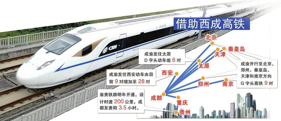 复兴号首次亮相西南地区 7小时47分成都至北京最快动车来了