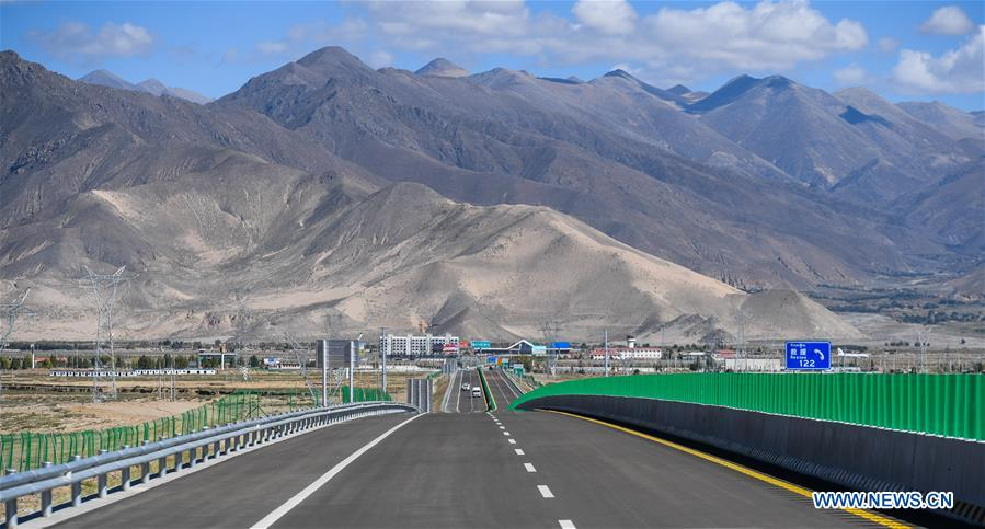 Main part of roadbed construction of Lhasa to Nyingchi section of Sichuan-Tibet Railway completed