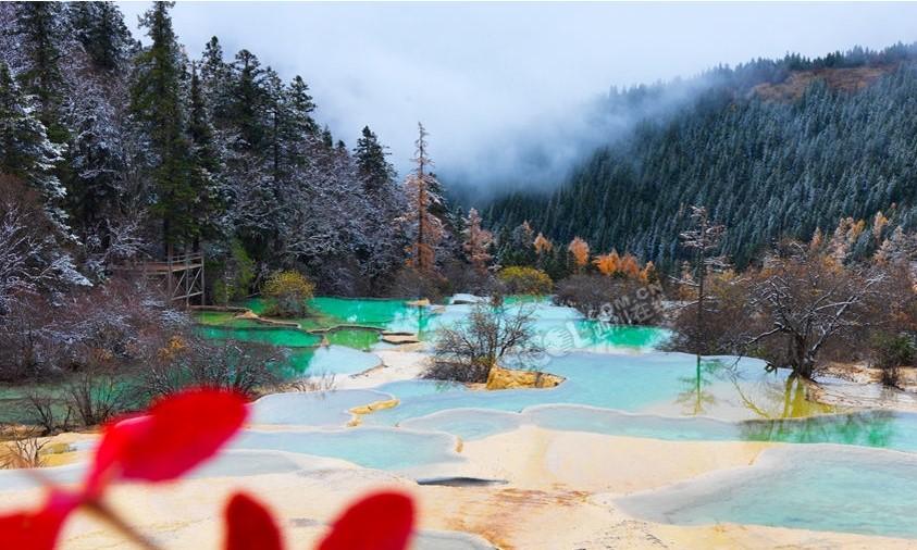 Verschneites Huanglong